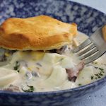 Chipped Beef Gravy Over Biscuits