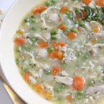 bowl of healthy chicken stew