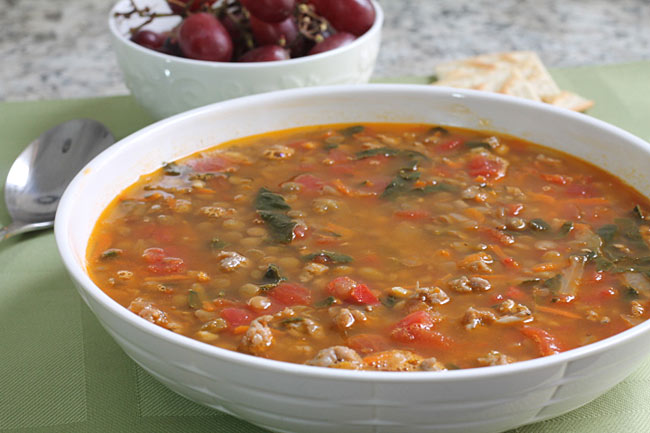 easy Sausage and Lentil Stew
