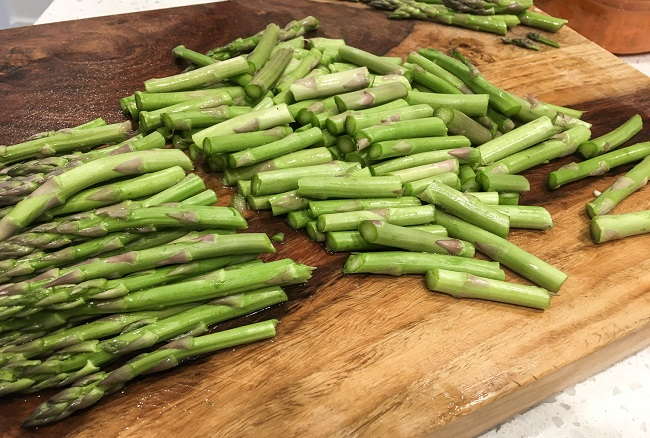 fresh cut asparagus for soup
