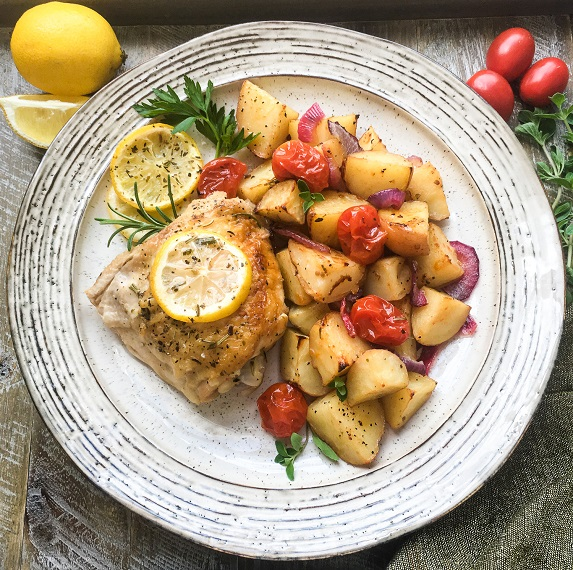 Chicken Thighs and Potatoes