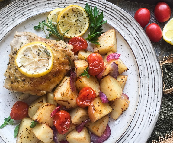 chicken thighs with potatoes
