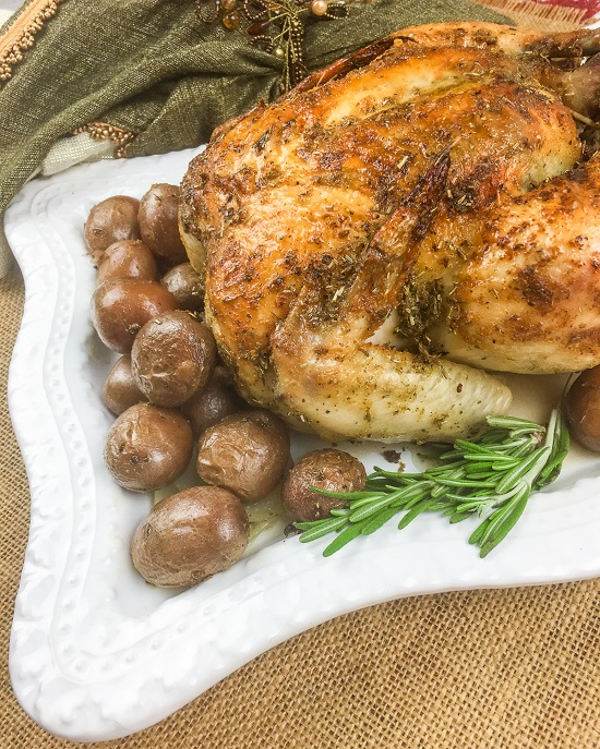 roasted chicken with lemon