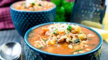 vegetarian minestrone Soup