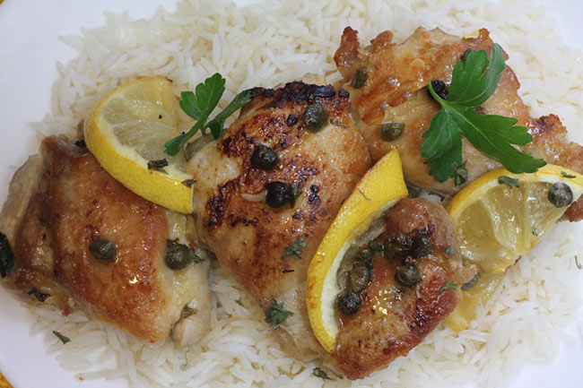 baked chicken piccata
