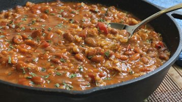 sausage beans and rice