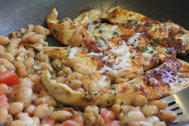 mexican chicken and beans