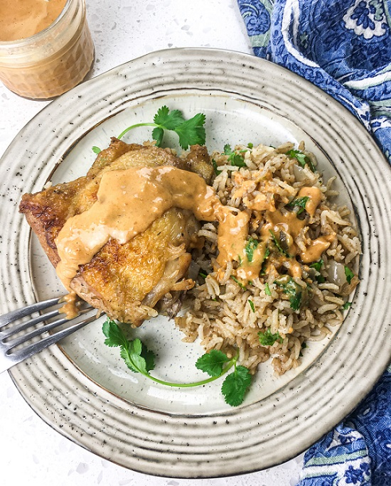 Dutch Oven Chicken and Rice Recipe