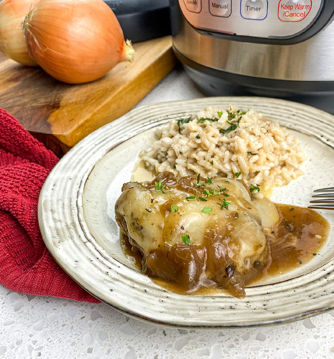 french onion chicken in the instant pot