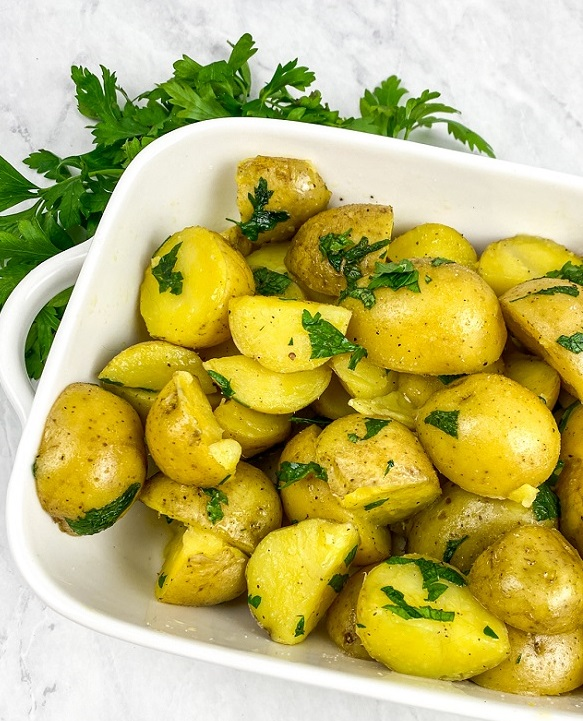 parsley butter poatoes