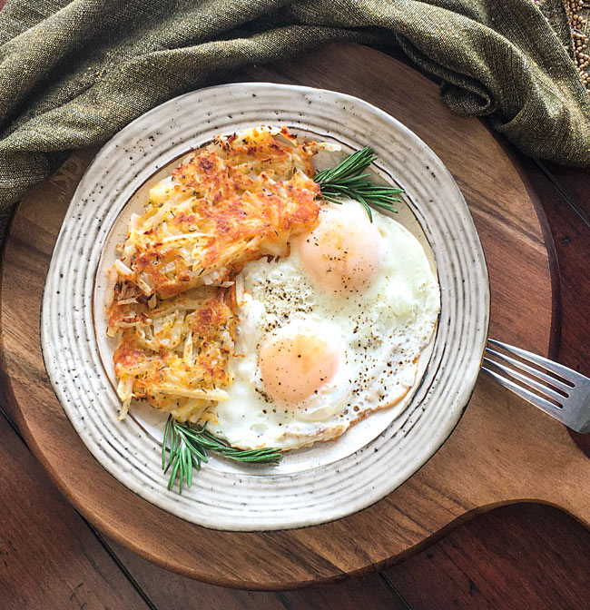 Simply Potatoes Cheesy Cast Iron Hash Browns