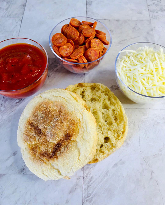 Pizza with English Muffins Ingredients