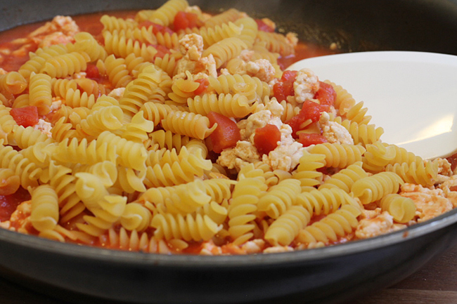 ground turkey pasta skillet